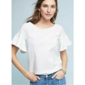Anthropologie Postmark Christel Ruffled Sleeve Top